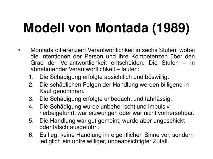 Modell von Montada (1989)