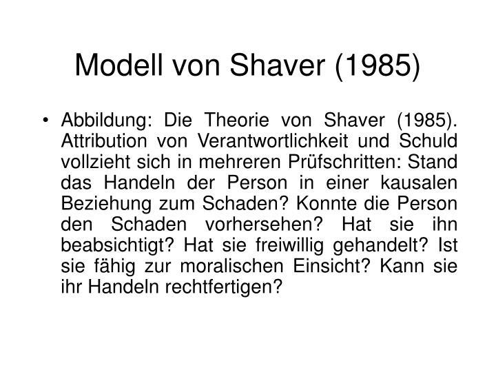 Modell von Shaver (1985)