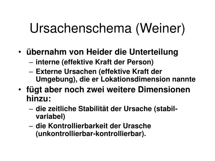 Ursachenschema (Weiner)