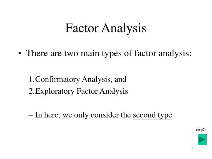 factor analysis n.