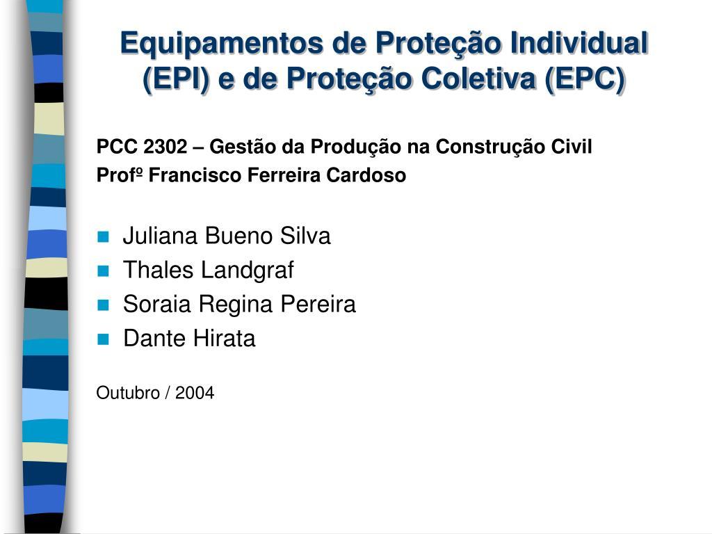 equipamentos de prote o individual epi e de prote o coletiva epc n. dc70280add