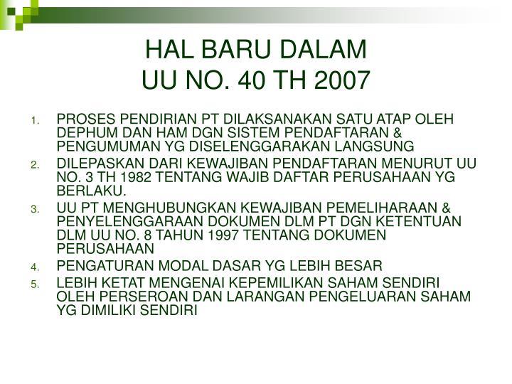 HAL BARU DALAM