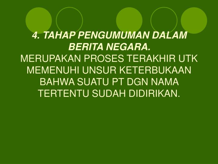 4. TAHAP PENGUMUMAN DALAM