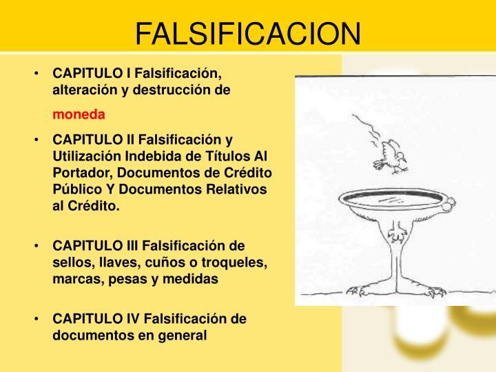 FALSIFICACION