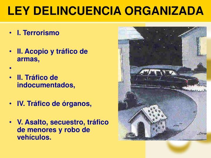 LEY DELINCUENCIA ORGANIZADA