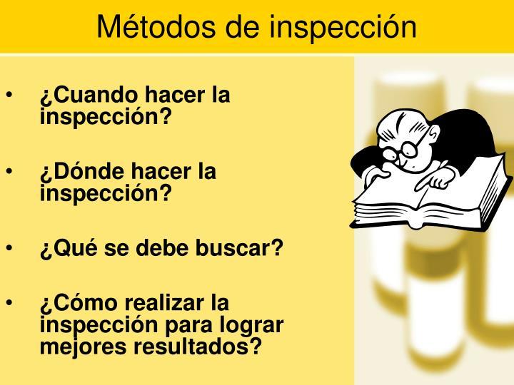 Métodos de inspección
