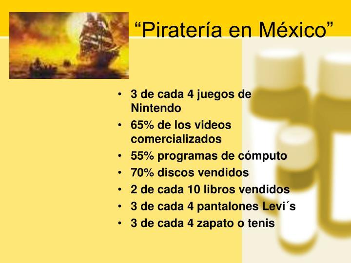 """""""Piratería en México"""""""