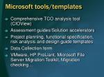 microsoft tools templates