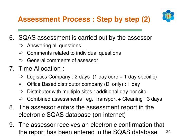 Assessment Process : Step by step (2)