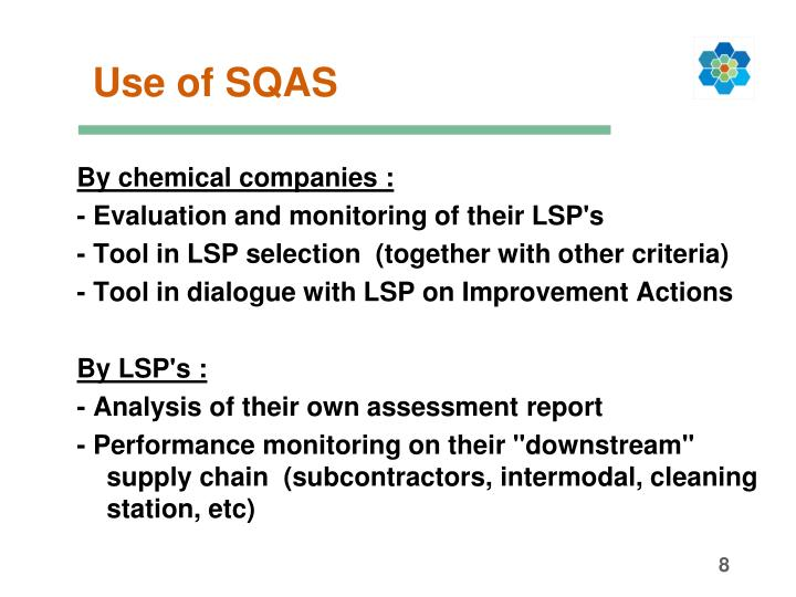 Use of SQAS