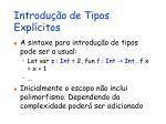 introdu o de tipos expl citos1