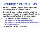 linguagem funcional 1 lf1