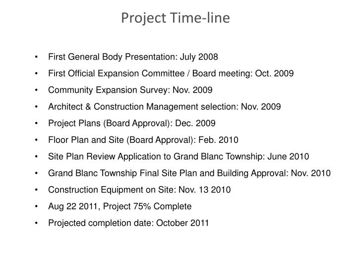 Project Time-line