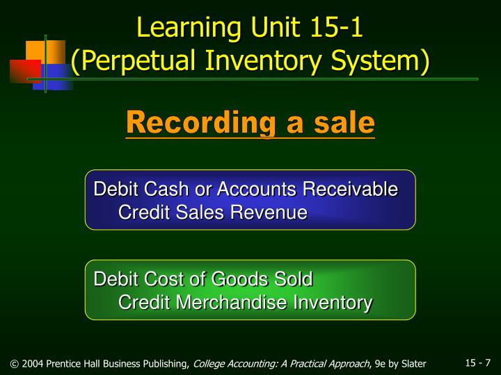 accounts receivable and merchandise inventory