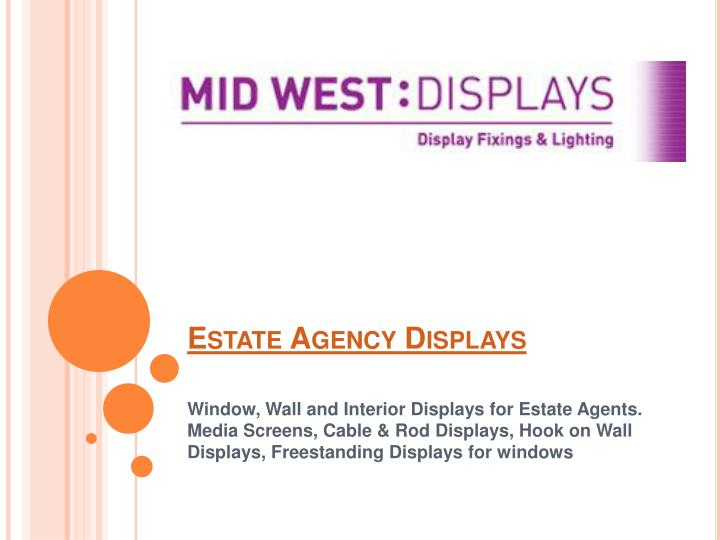 estate agency displays n.