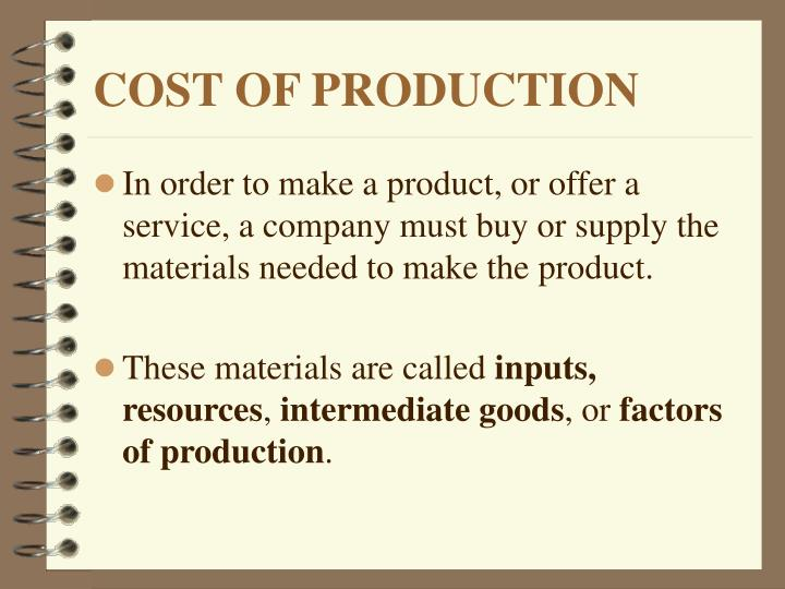Cost of production1