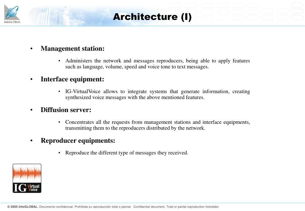 Architecture (I)