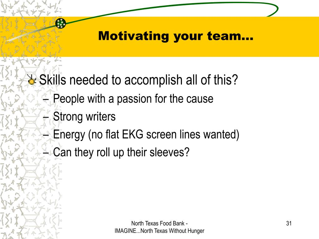 Motivating your team…