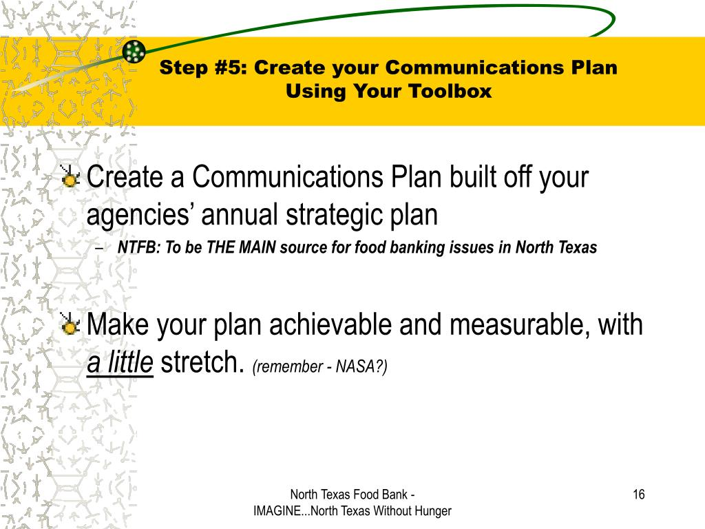 Step #5: Create your Communications Plan
