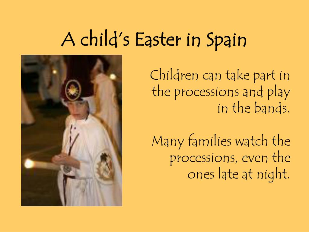 A child's Easter in Spain