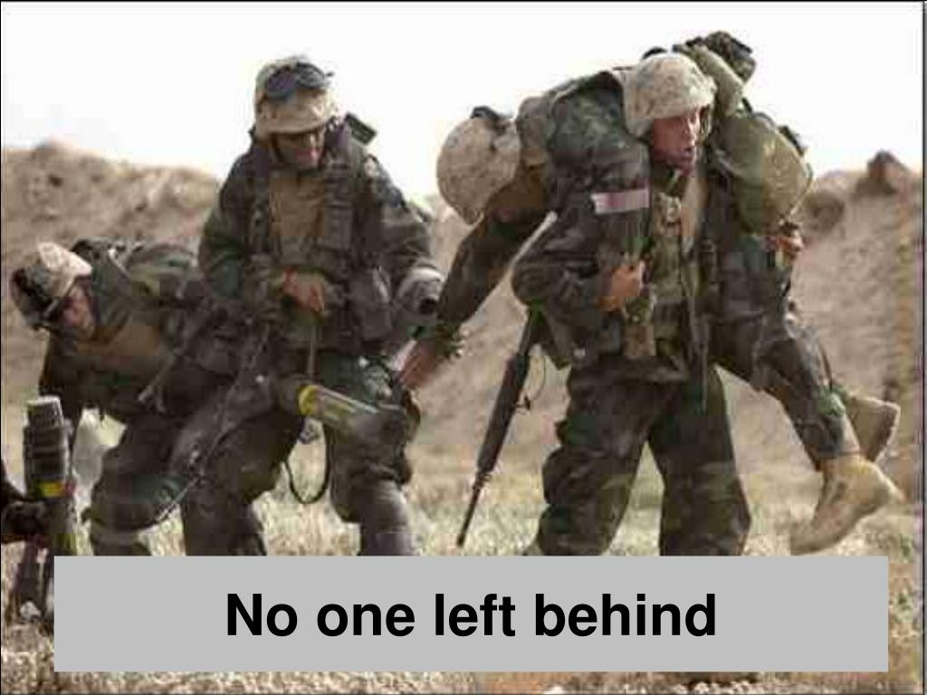 No one left behind