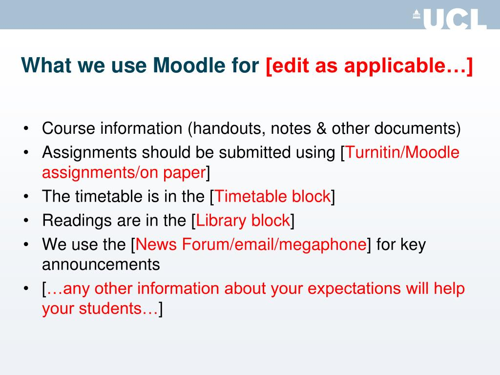 What we use Moodle for