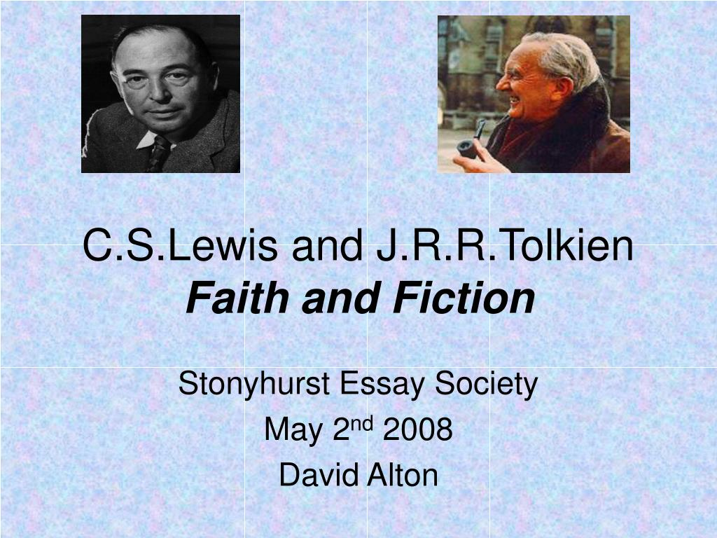 c s lewis and j r r tolkien faith and fiction l.