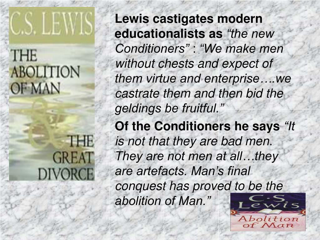 Lewis castigates modern educationalists as
