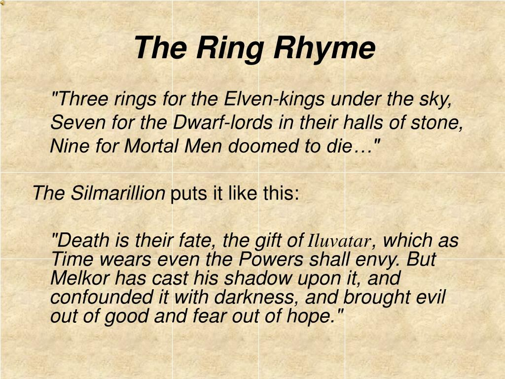 The Ring Rhyme