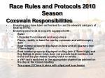 race rules and protocols 2010 season14
