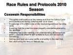 race rules and protocols 2010 season15