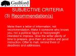 subjective criteria17