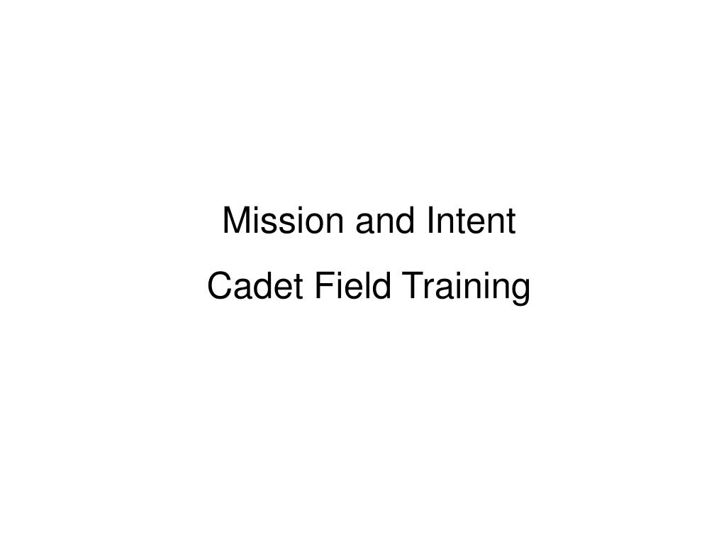 Mission and Intent