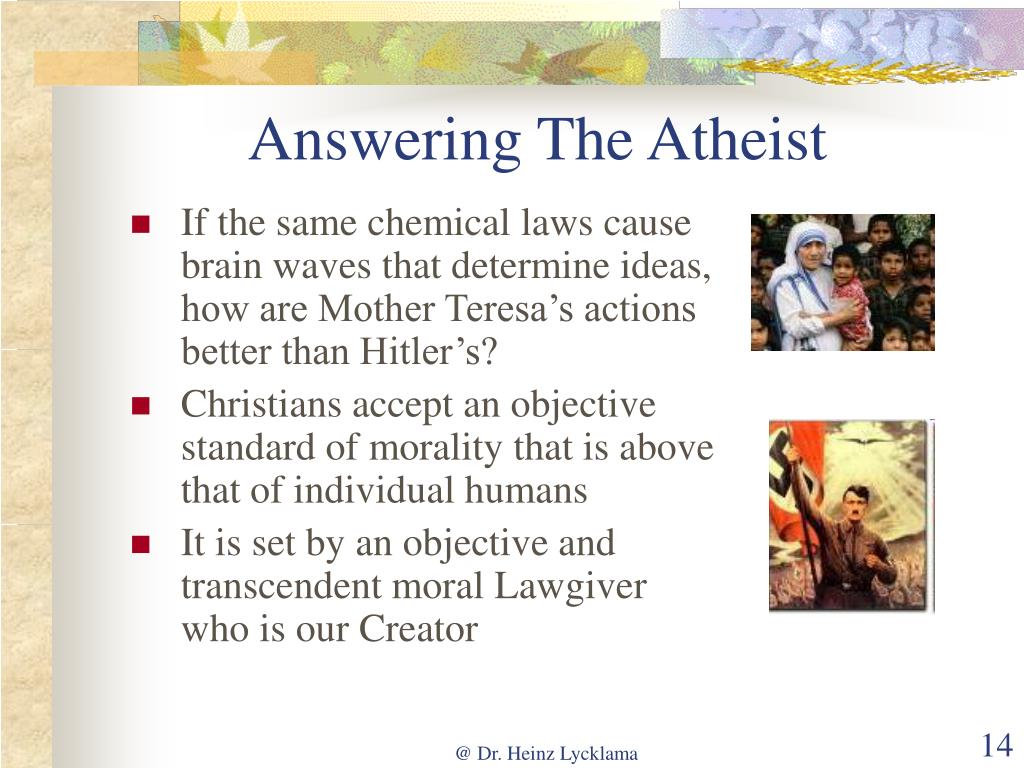 Answering The Atheist