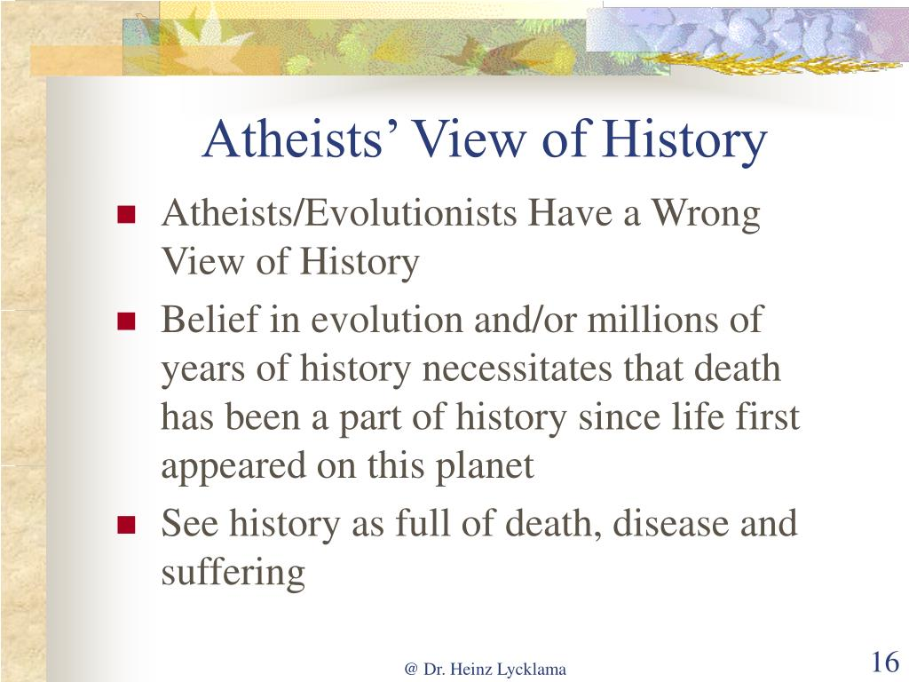 Atheists' View of History