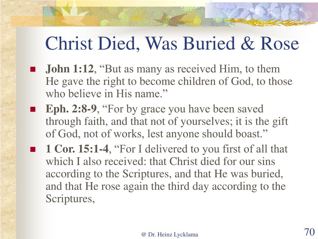 Christ Died, Was Buried & Rose