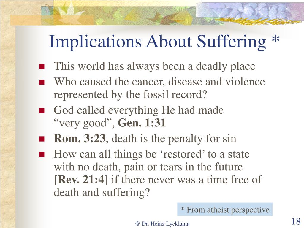 Implications About Suffering *