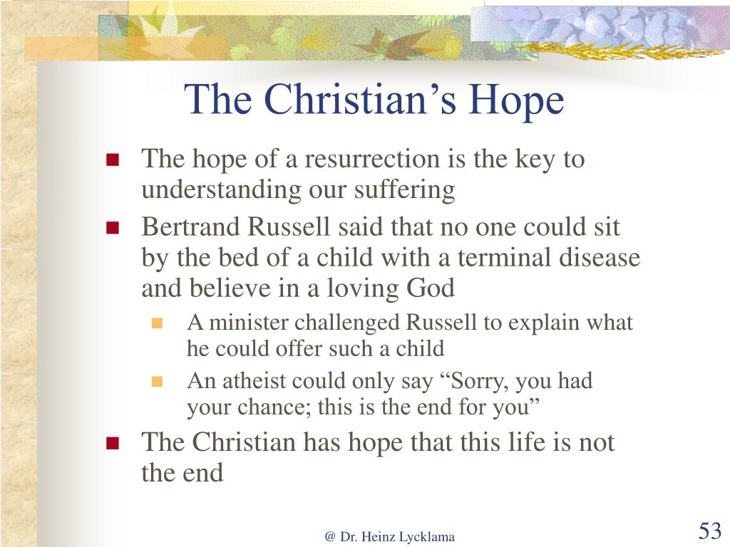 The Christian's Hope