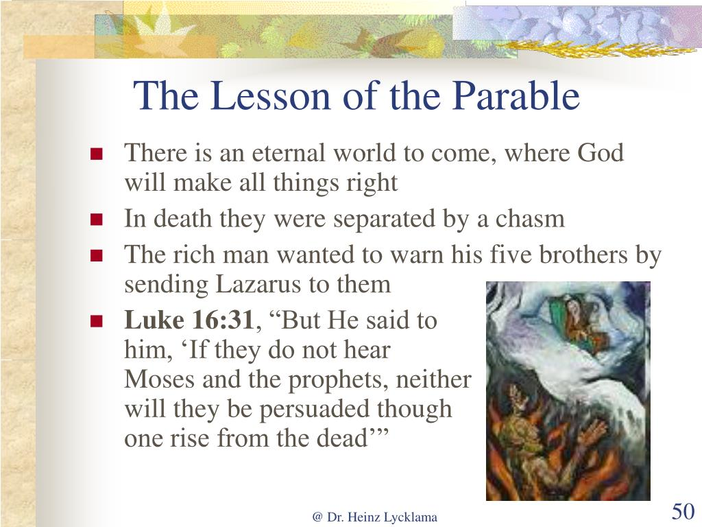 The Lesson of the Parable