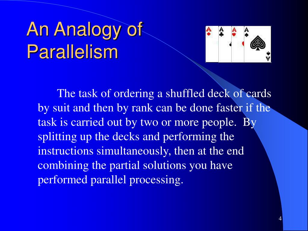 An Analogy of Parallelism