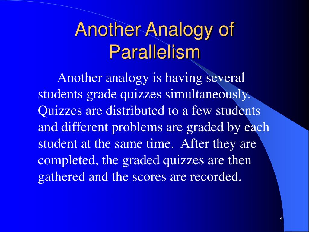 Another Analogy of Parallelism