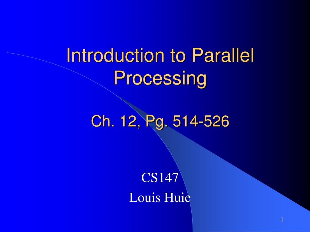 introduction to parallel processing ch 12 pg 514 526 l.