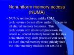nonuniform memory access numa