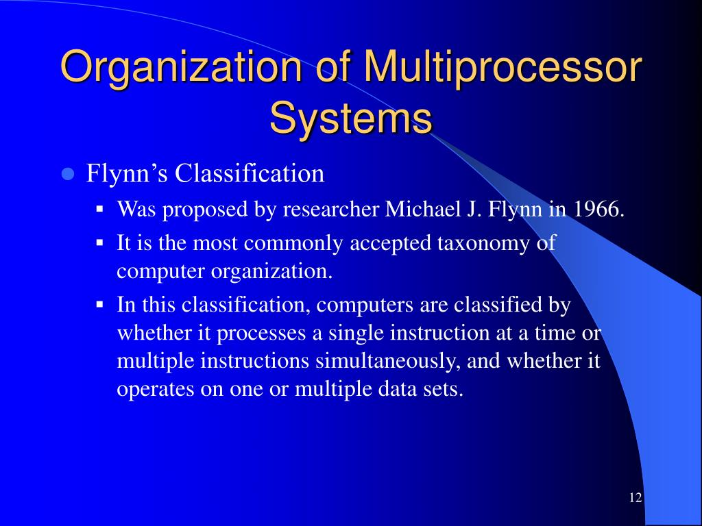 Organization of Multiprocessor Systems