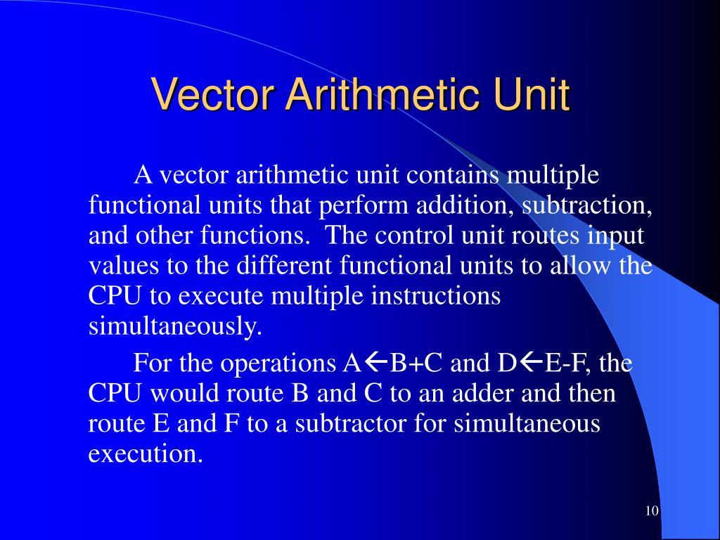 Vector Arithmetic Unit