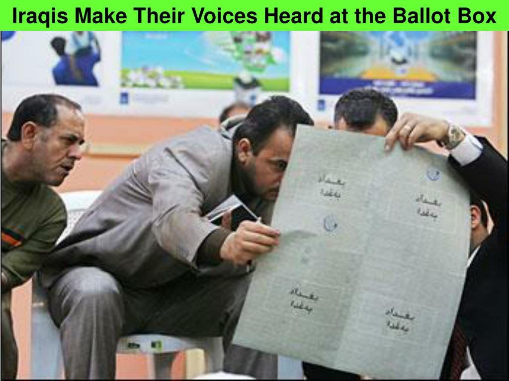 Iraqis Make Their Voices Heard at the Ballot Box