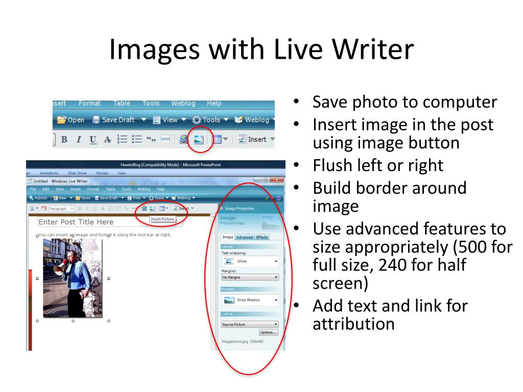 Images with Live Writer