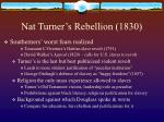 nat turner s rebellion 1830