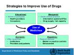 strategies to improve use of drugs