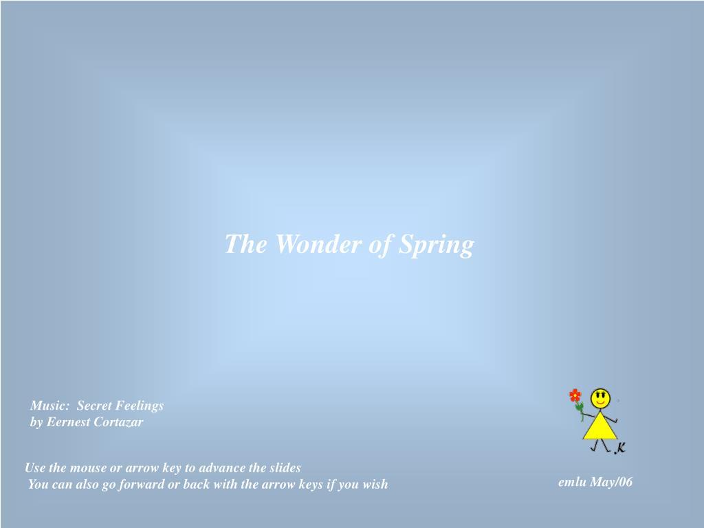 The Wonder of Spring